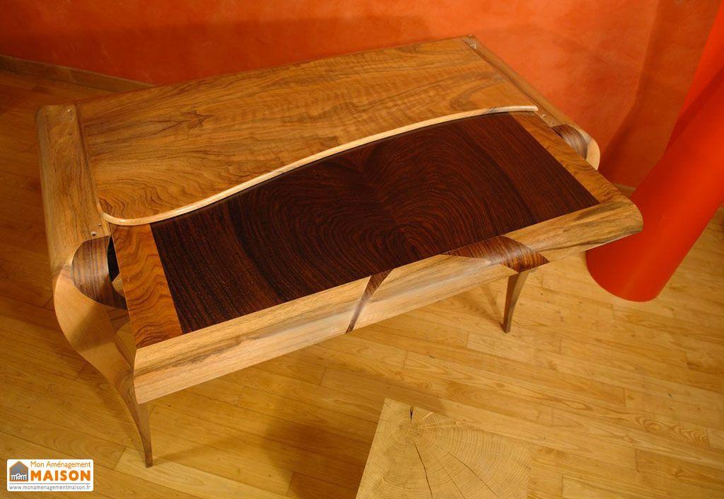 Portofino table en écorce de noyer massif cm