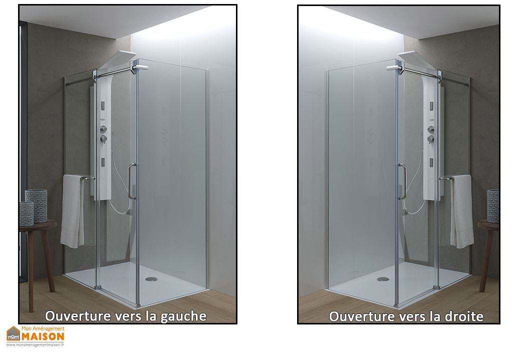 cabine de douche en verre tremp 8 mm virgo tk 6 dimensions kolpa. Black Bedroom Furniture Sets. Home Design Ideas