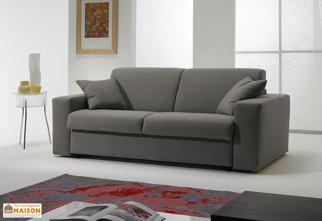 Canapé Convertible en Tissu 3P Ecorapide 200x100/210x85cm (l,l,h)
