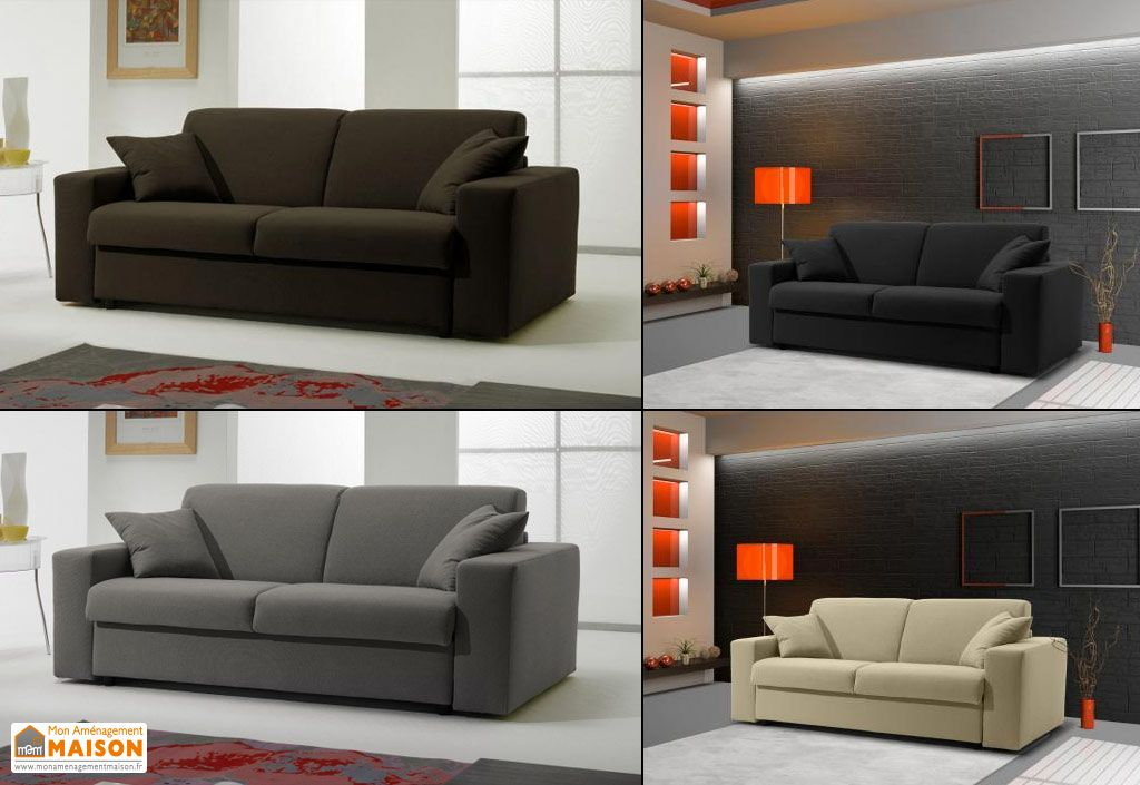canap convertible en tissu 2p ecorapide 180x100 210x85cm l l h canap convertible en tissu. Black Bedroom Furniture Sets. Home Design Ideas