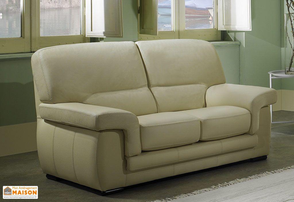 canap en cuir v ritable 3 places viviane 192x88x90cm l l h 4 coloris zanisofa. Black Bedroom Furniture Sets. Home Design Ideas