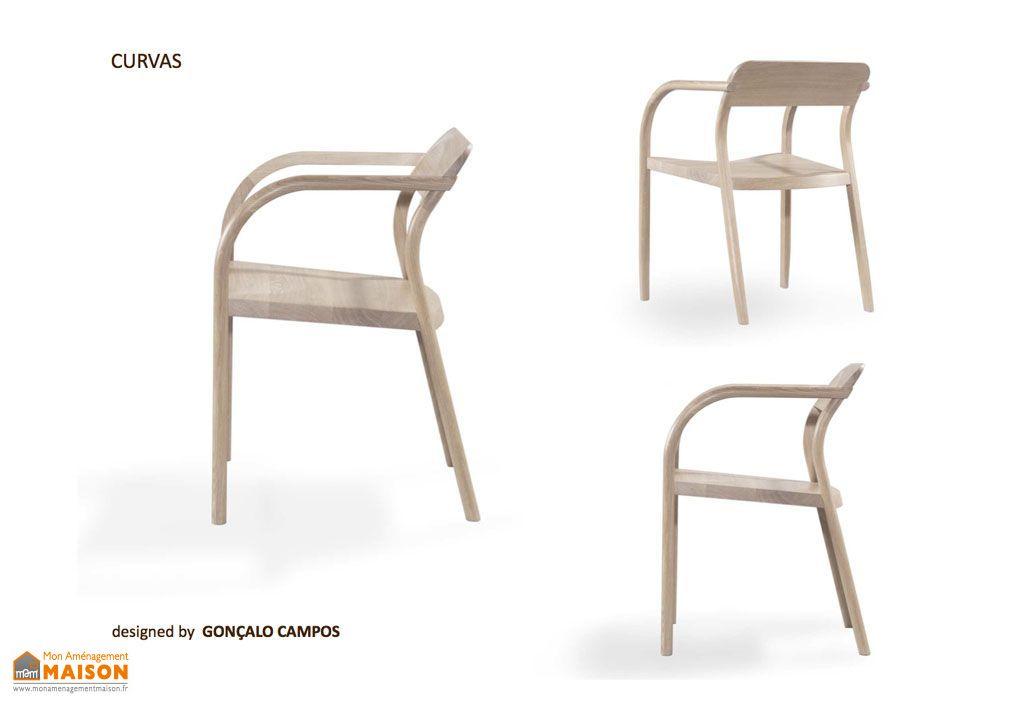Chaise en Chêne Curvas Wewood