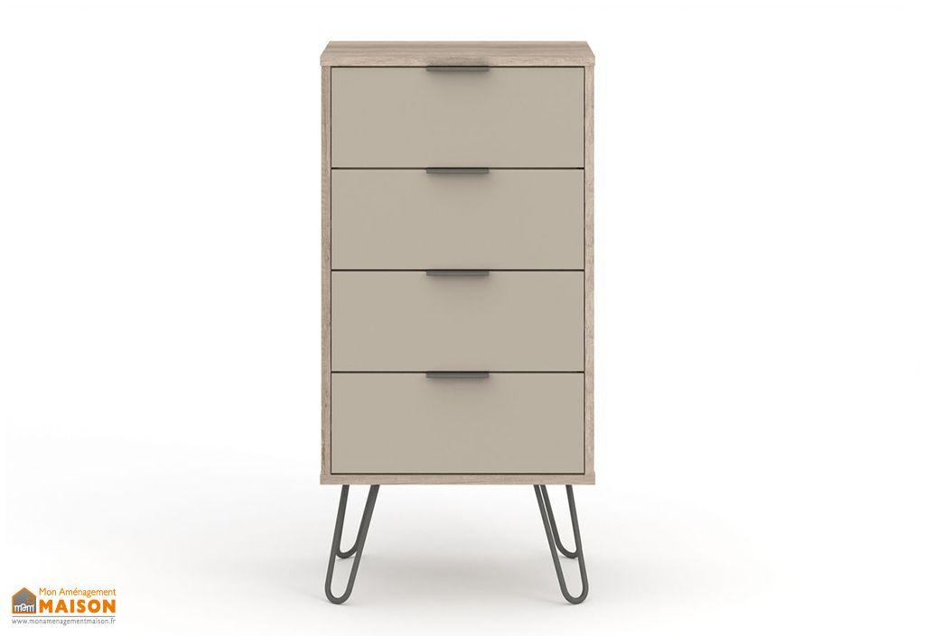 Commode haute 4 tiroirs en bois Design Vicenza Agliana
