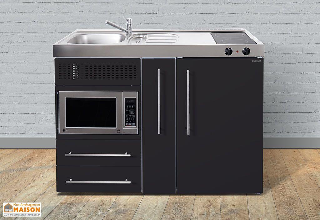 mini cuisine avec frigo micro ondes et vitroc ramique. Black Bedroom Furniture Sets. Home Design Ideas