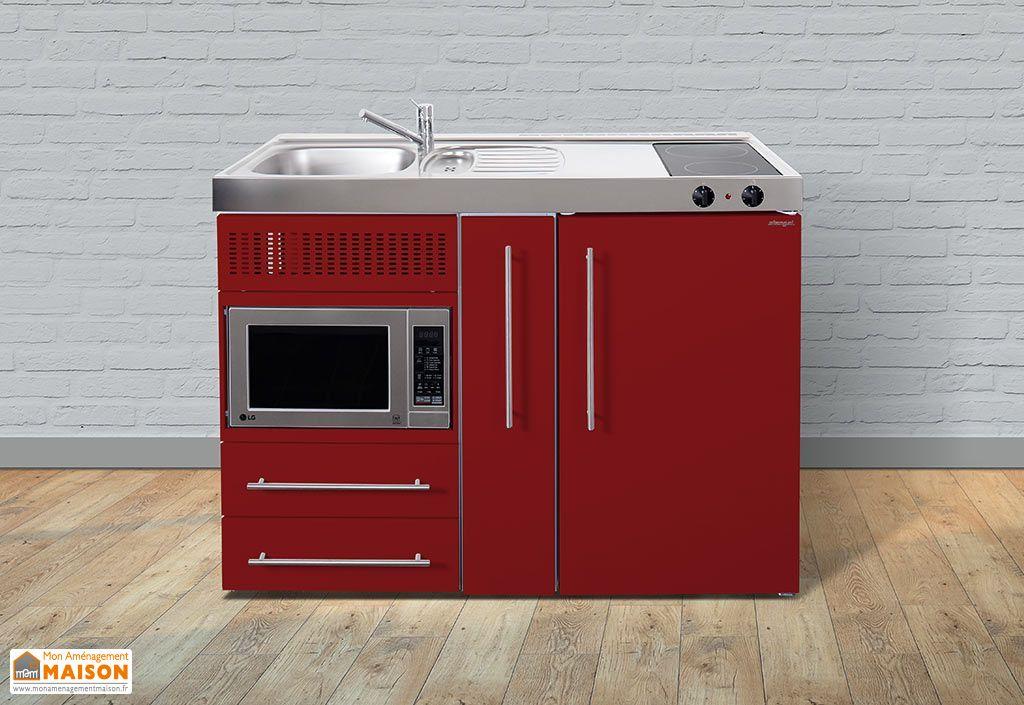 mini cuisine avec frigo micro ondes et vitroc ramique mpm120a 6 coloris mini cuisine avec. Black Bedroom Furniture Sets. Home Design Ideas