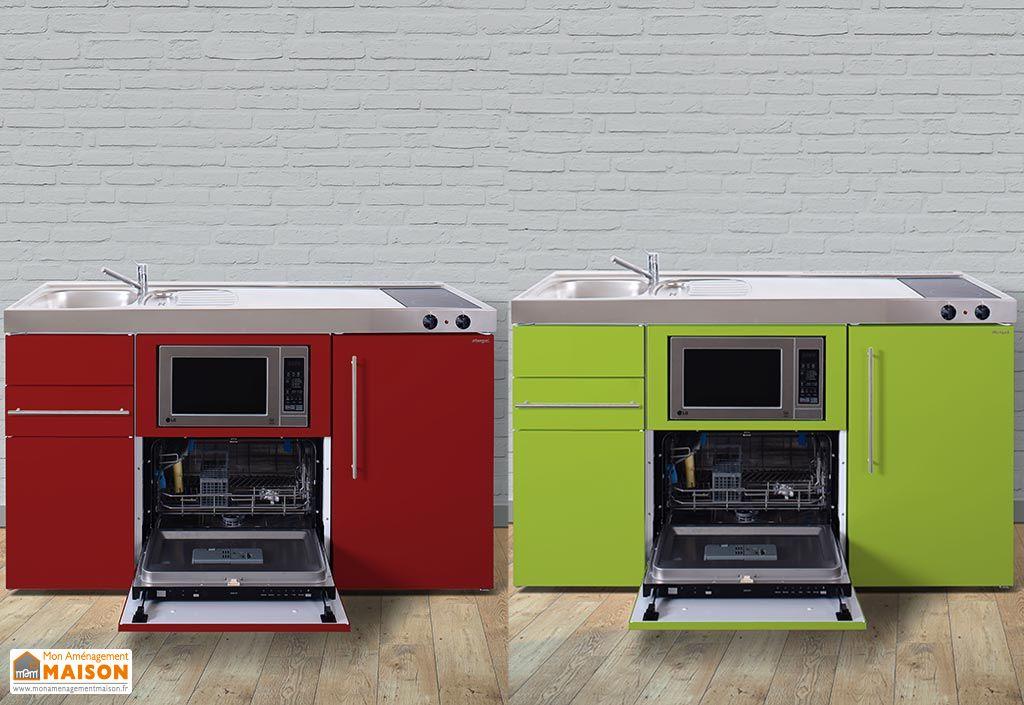 Mini-Cuisine avec Frigo, L-V, Micro-onde et Vitro MPGSM150 (6 Coloris)