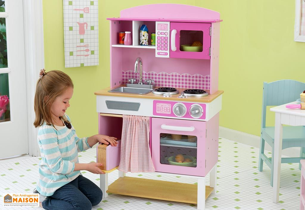 Cuisine pour enfants familiale rose kidkraft for Cuisine kidkraft rose