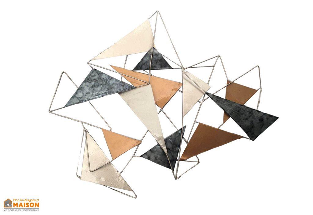 Décoration Murale Triangles en Métal Socadis
