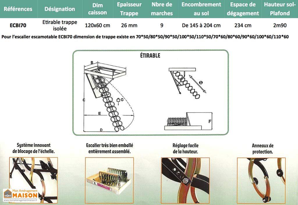 escalier escamotable isol etirable m tal escalier escamotable m tal etirable isol levigne. Black Bedroom Furniture Sets. Home Design Ideas