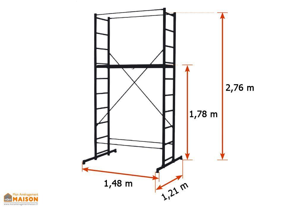 echafaudage domestique en aluminium b4 h 4m centaure. Black Bedroom Furniture Sets. Home Design Ideas