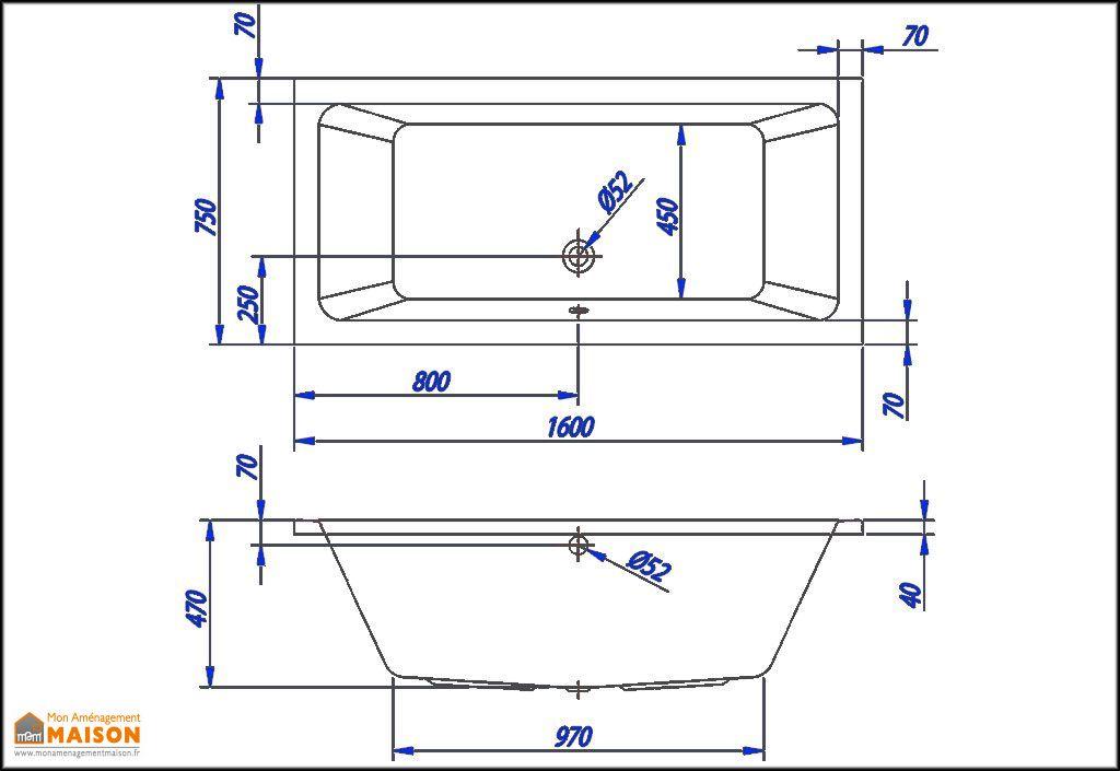 Baignoire rectangulaire acrylique elektra kolpa for Dimension baignoire rectangulaire