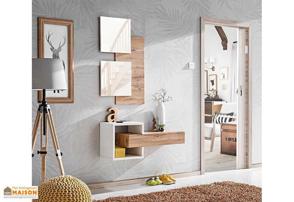 Ensemble meuble mural en bois et miroirs meubles de chambre ASM Easy II