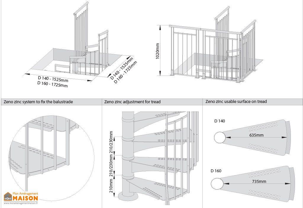 escalier ext rieur en colima on en m tal galvanis alaska levigne. Black Bedroom Furniture Sets. Home Design Ideas