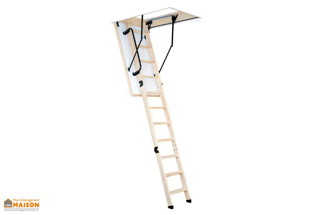 Escalier Escamotable Isolé en 46 mm avec Trappe