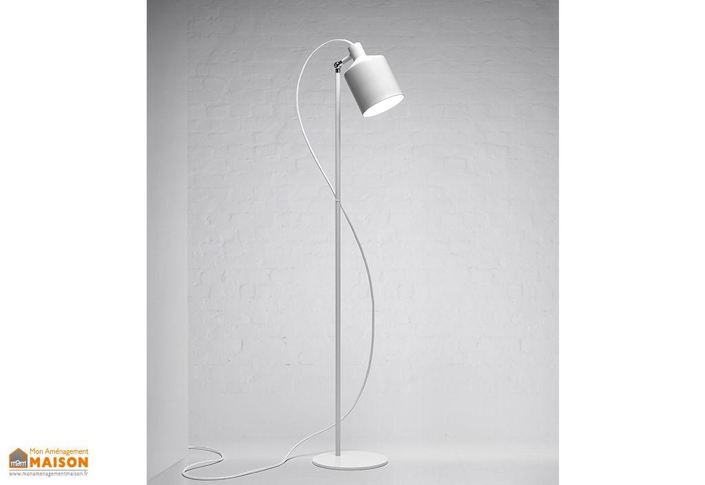 Lampadaire en Aluminium et Acier Zero Silo Blanc
