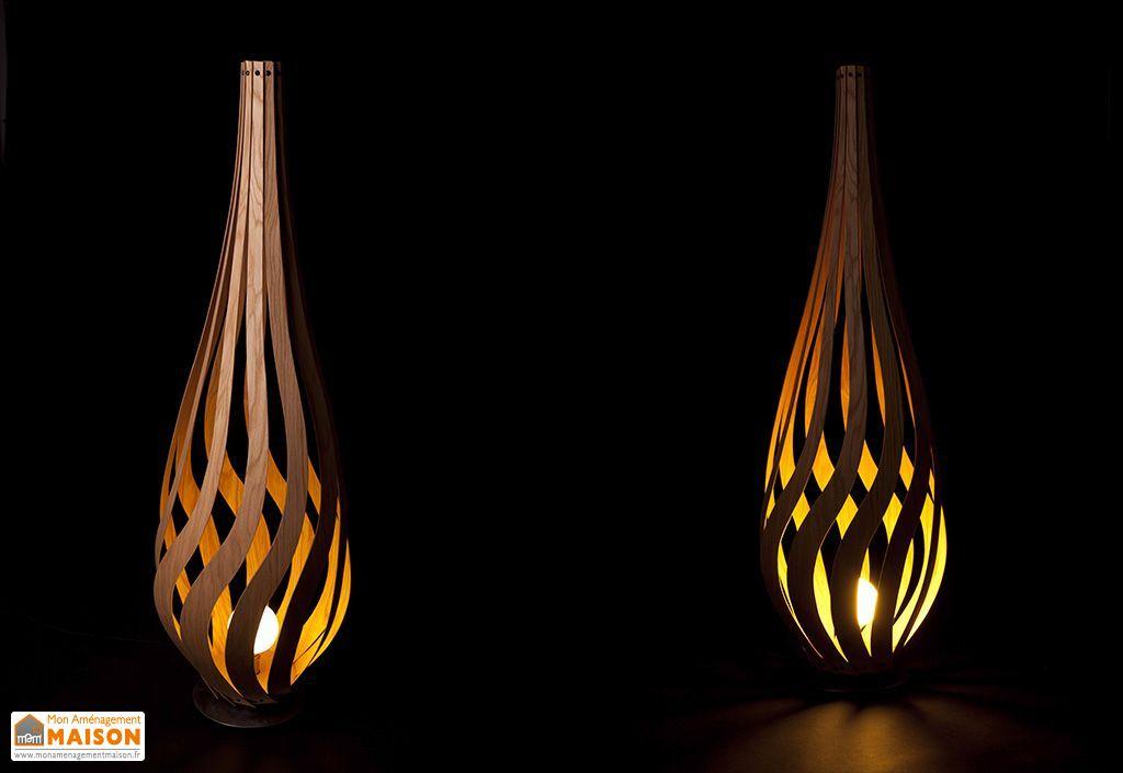 lampadaire design en bois tulipe macmaster. Black Bedroom Furniture Sets. Home Design Ideas