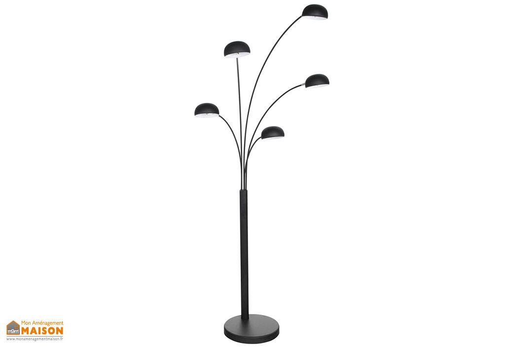 Lampadaire en Métal Noir Kokoon Design Bush 200 cm