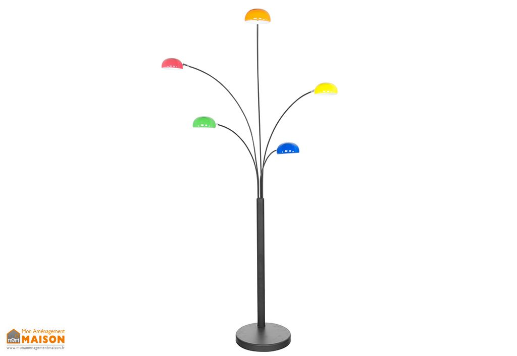 Lampadaire en Métal Noir / Multicolore Kokoon Design Bush