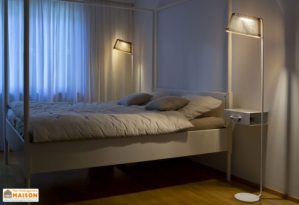 Lampadaire LED Blanc Owalo 7010