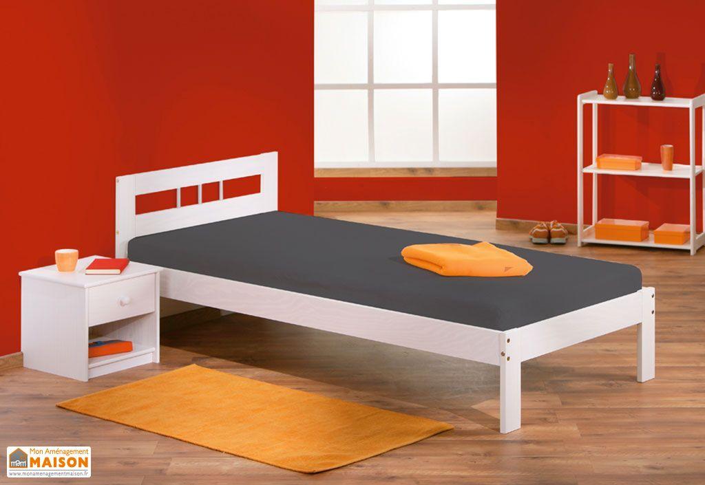 chambre compl te lit 140x190 armoire 3p 3t commode chevet chambre compl te en pin. Black Bedroom Furniture Sets. Home Design Ideas