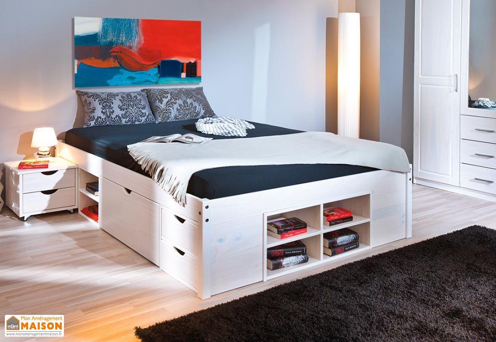 chambre compl te magnus lit armoire 3p commode 2. Black Bedroom Furniture Sets. Home Design Ideas