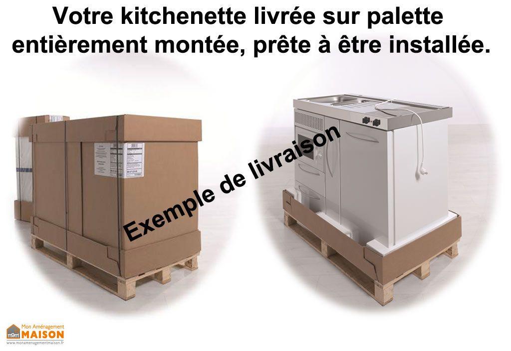 Mini-Cuisine Inox avec Micro-Ondes, L-V et Vitrocéramiques MPGSMES160