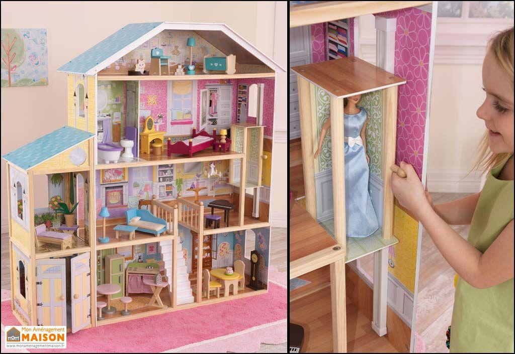 maison de poup es majestueuse kidkraft. Black Bedroom Furniture Sets. Home Design Ideas