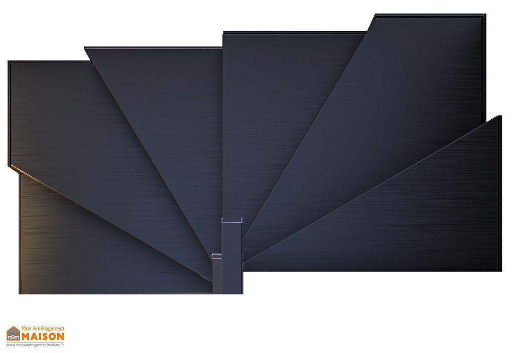 Marches rayonnantes en acier pour escalier sur mesure en métal