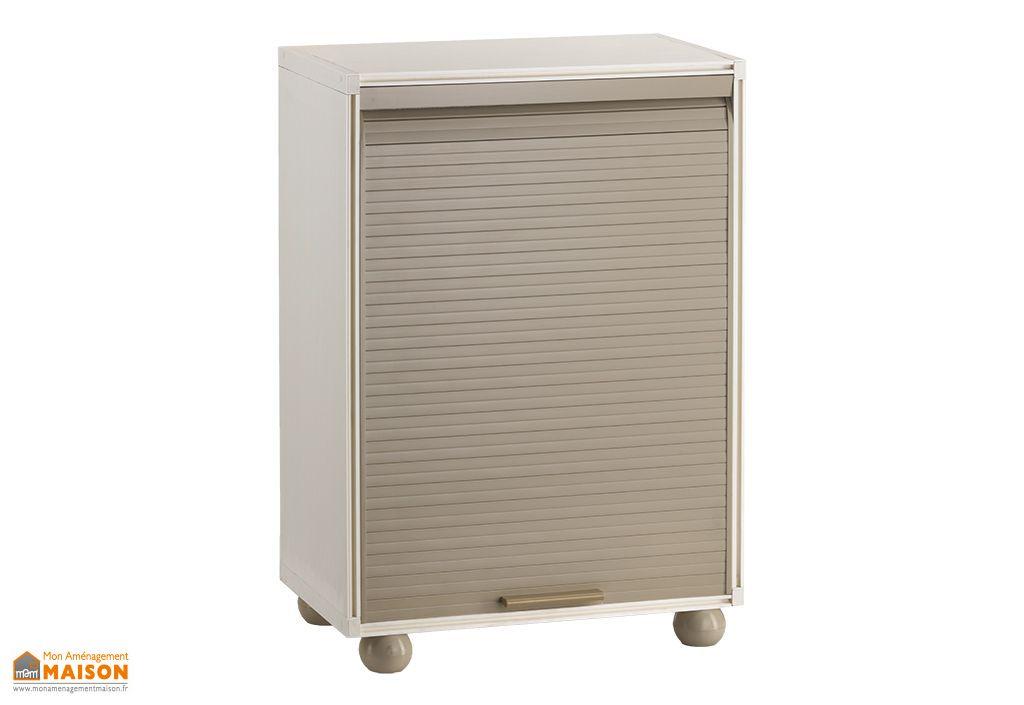 armoire de rangement r sine 1 porte modulable 90 cm garofalo. Black Bedroom Furniture Sets. Home Design Ideas