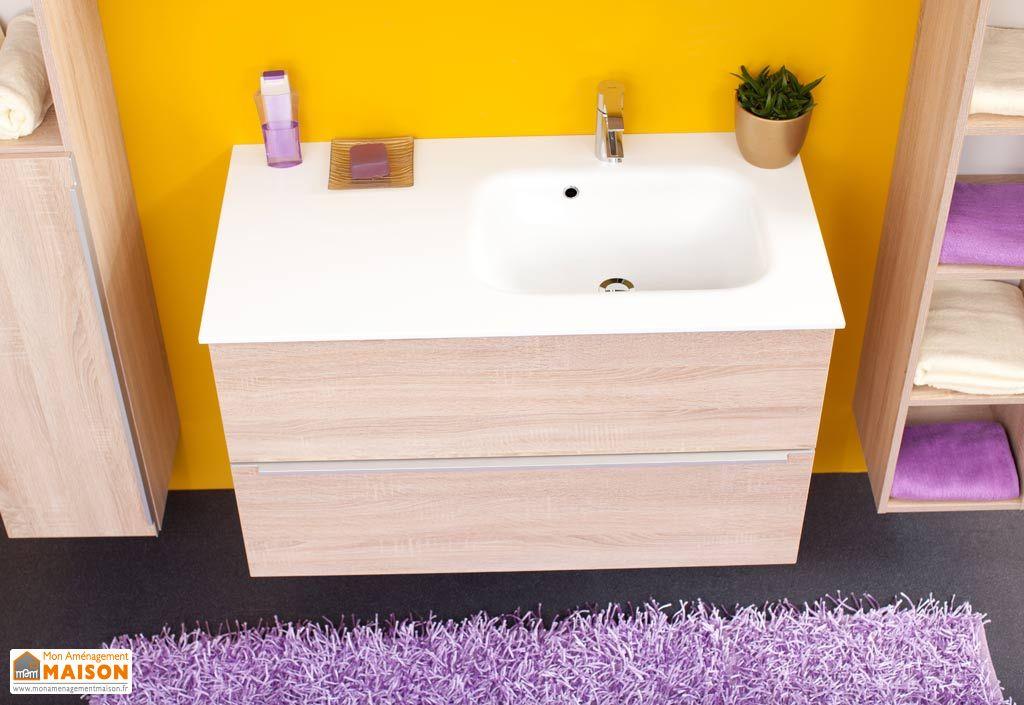 Meuble Salle de Bain, Plan de Toilette en Kerrock Zena 100, 4 modèles