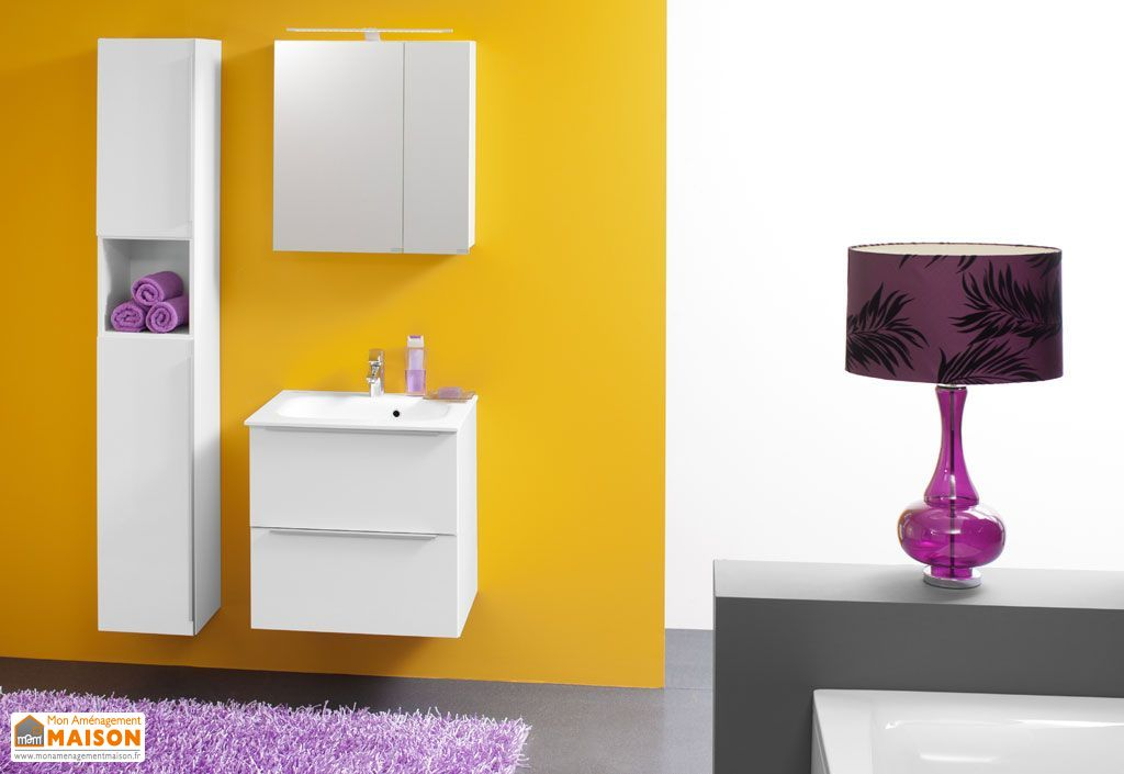 Meuble de salle de bain avec plan de toilette en kerrock for Salle de bain avec toilette