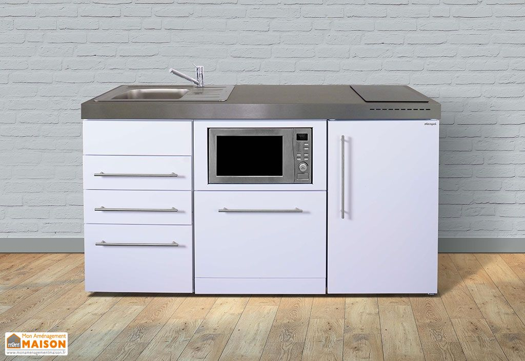Kitchenette pour studio blanche avec micro ondes