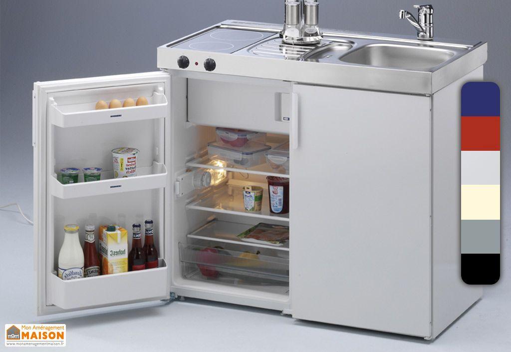 Mini-Cuisine avec Frigo et Vitrocéramique MK100 (5 Coloris)