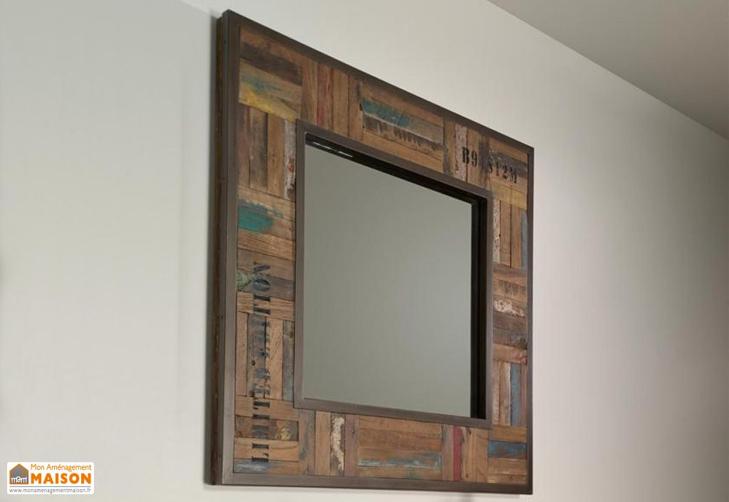 ensemble tables basses et miroir en teck isis b cosy. Black Bedroom Furniture Sets. Home Design Ideas