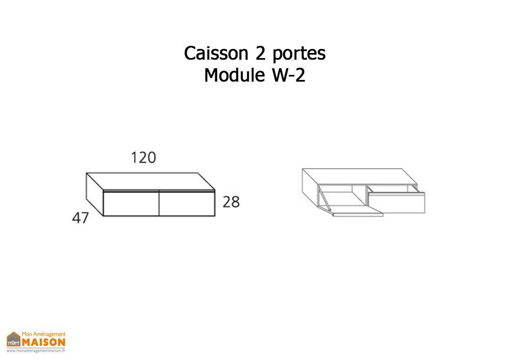 Caisson Meuble Tv 1 Porte Basculante + 1 Tiroir W-2