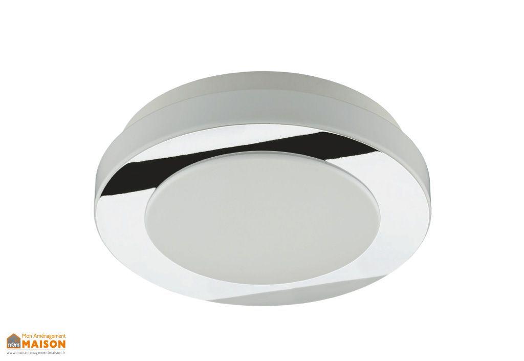 plafonnier led rond go 31cm chrome prisma. Black Bedroom Furniture Sets. Home Design Ideas