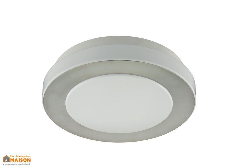 Plafonnier LED Rond Go 31cm Nickel Mat