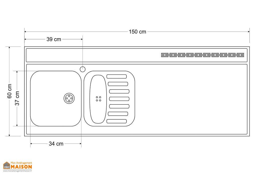 plan de travail en inox 150x60 cm avec vier stengel. Black Bedroom Furniture Sets. Home Design Ideas