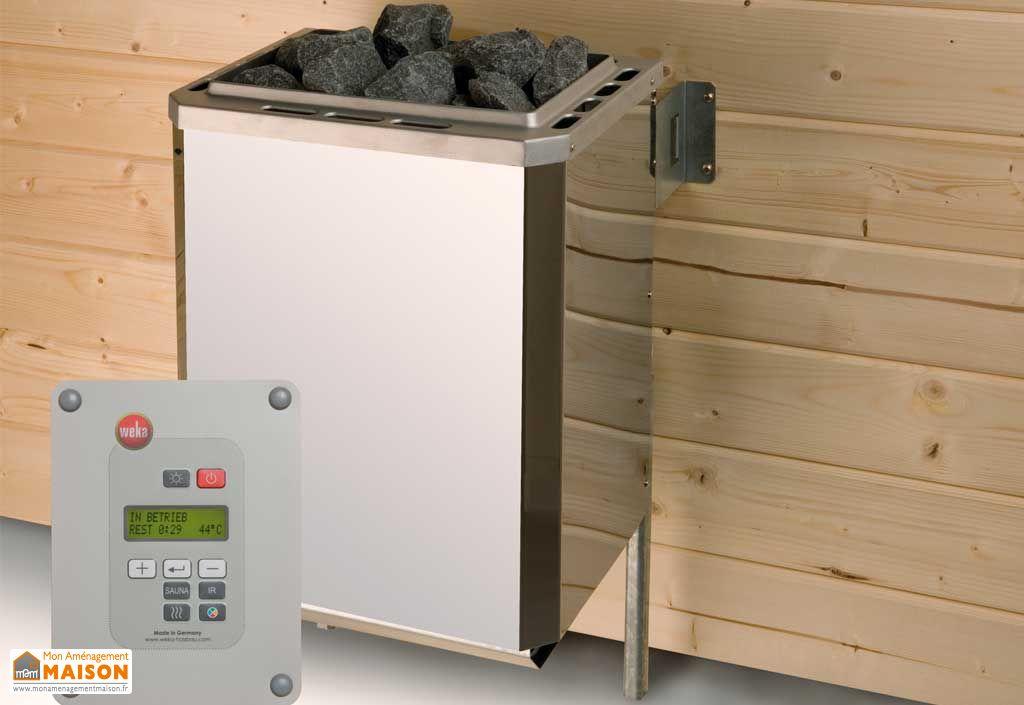 Sauna Weka Falun 68 mm+Poêle 230 V