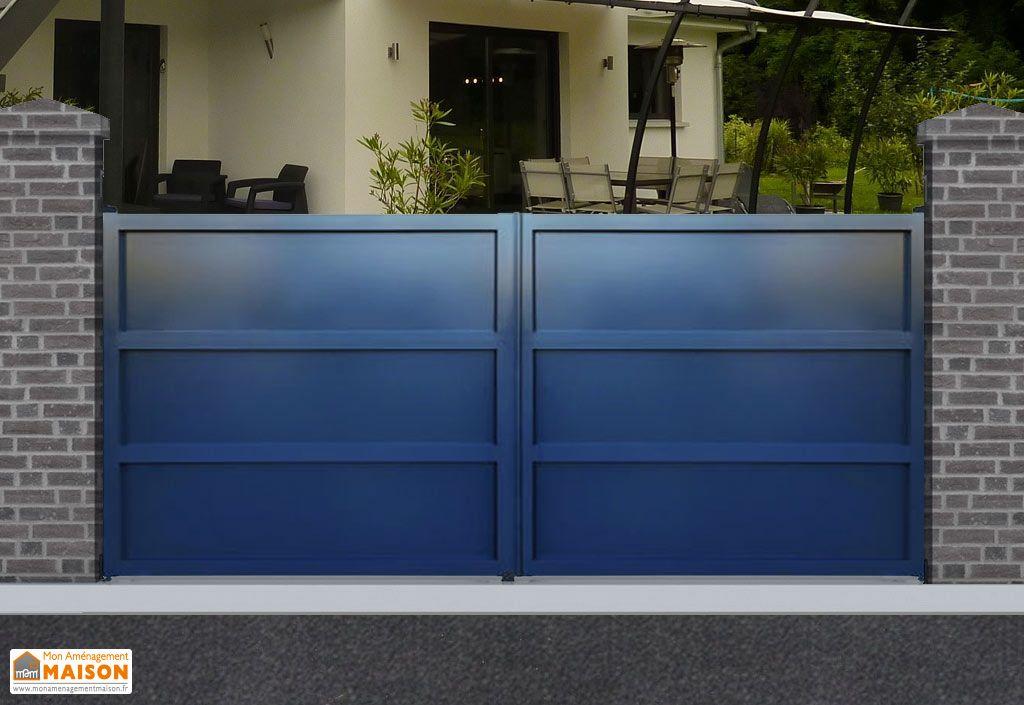 portail aluminium battant san francisco h 1 80 m gris pls dim nfi. Black Bedroom Furniture Sets. Home Design Ideas