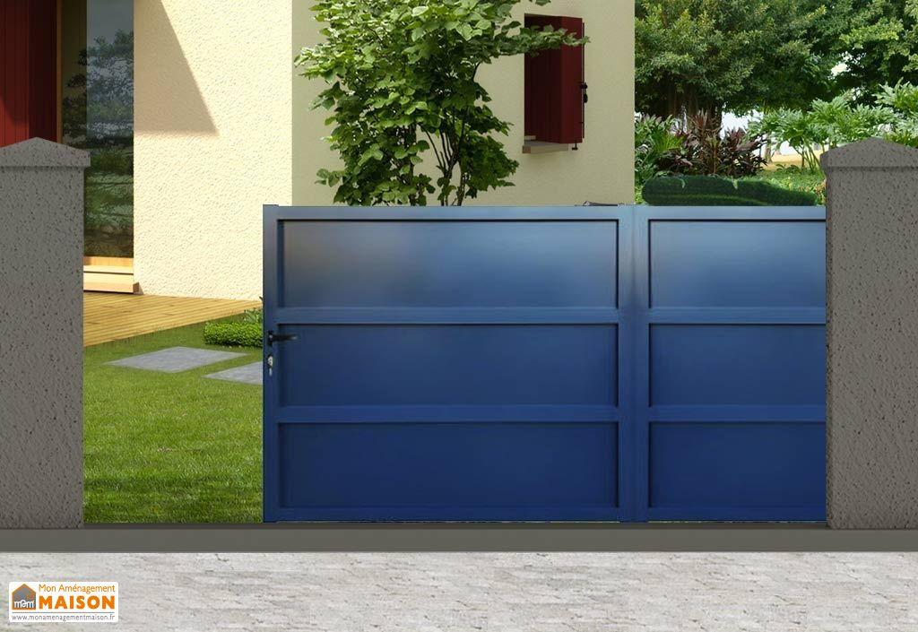 portail en aluminium gris anthracite peinture laquée RAL 7016
