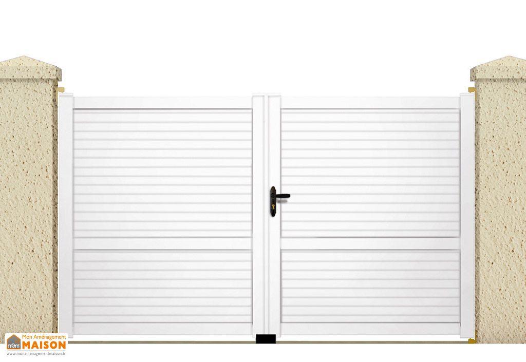 Portail Battant PVC Blanc 3,5m Callisto