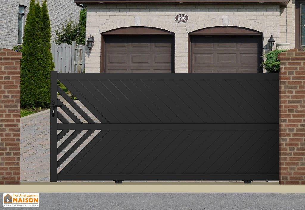 portail coulissant alu 4m th tys 3 coloris maine cl tures. Black Bedroom Furniture Sets. Home Design Ideas