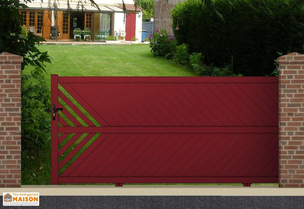 Portail coulissant alu motoris 4m thetys 3 coloris for Portail coulissant motorise m