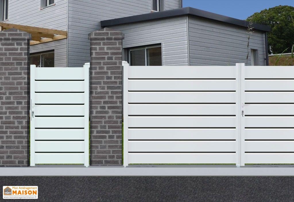 portillon aluminium battant orlando h 1 60 m blanc nfi. Black Bedroom Furniture Sets. Home Design Ideas