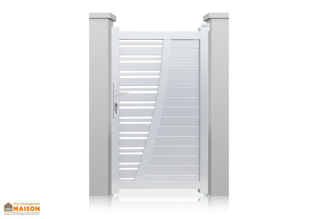 portillon aluminium battant new york h 1 70 m blanc nfi