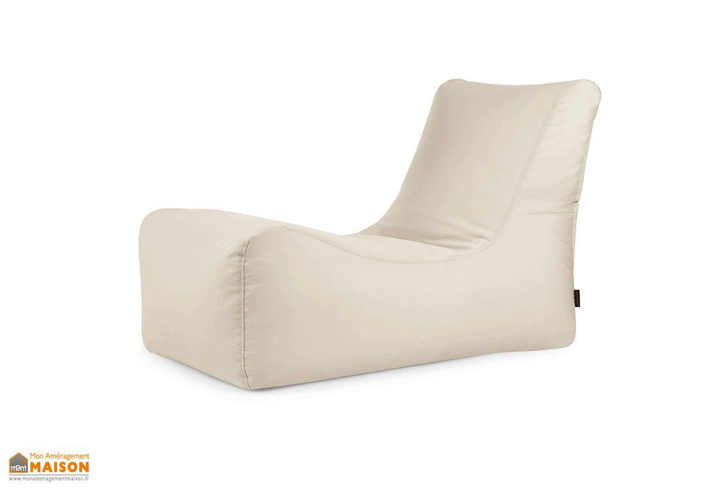 pouf chaise longue en tissu hydrofuge
