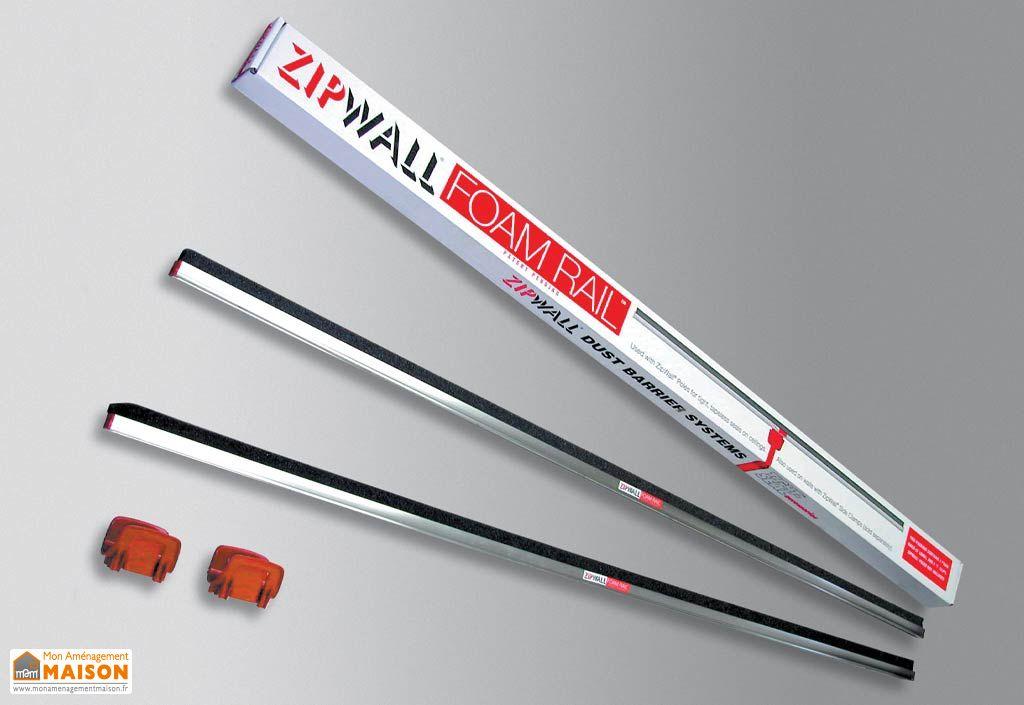 Pack Plafond 2 Rails + 2 Clips Zipwall