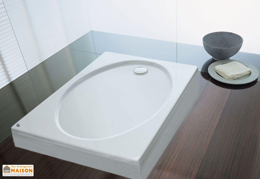 receveur de douche acrylique avec tablier rumba kolpa. Black Bedroom Furniture Sets. Home Design Ideas