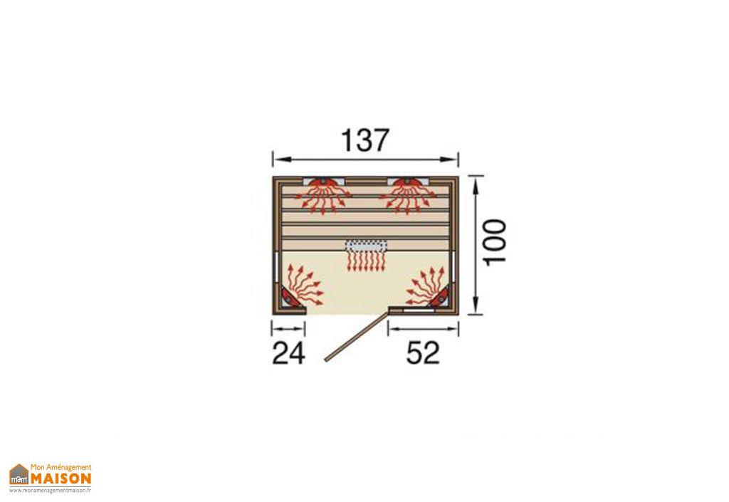 Sauna Infrarouge Weka Sports 1700 ou 2050 W